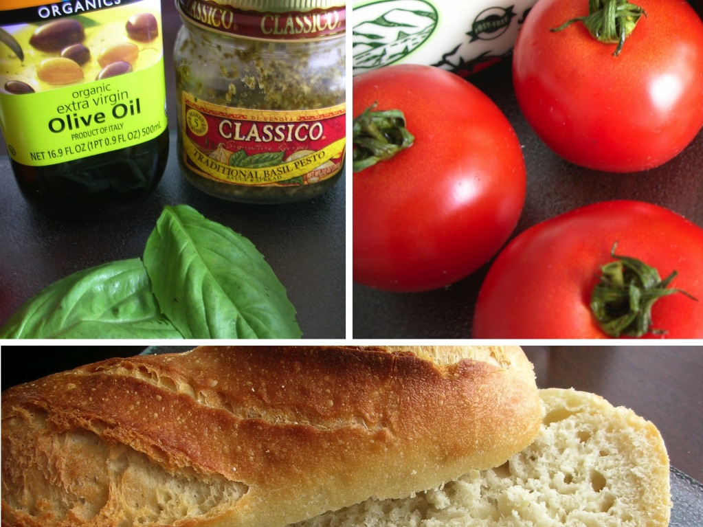 here's what you'll need to make a caprese sandwich