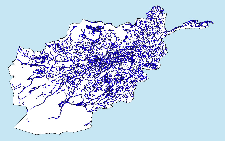 Mapping afghanistan cartographica screenshot of afghanistan rivers gumiabroncs Choice Image