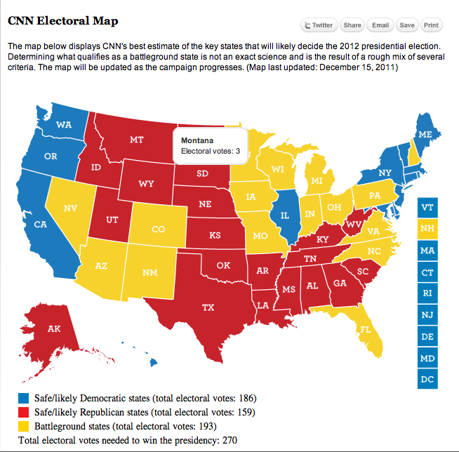 CNN Releases Map for Battleground States for 2012 Election ...