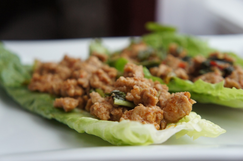 spicy basil chicken lettuce wraps servings 8 leaves spicy basil ...