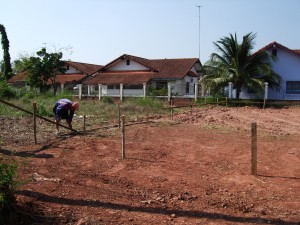 Staking out the plot of land in Nong Khai