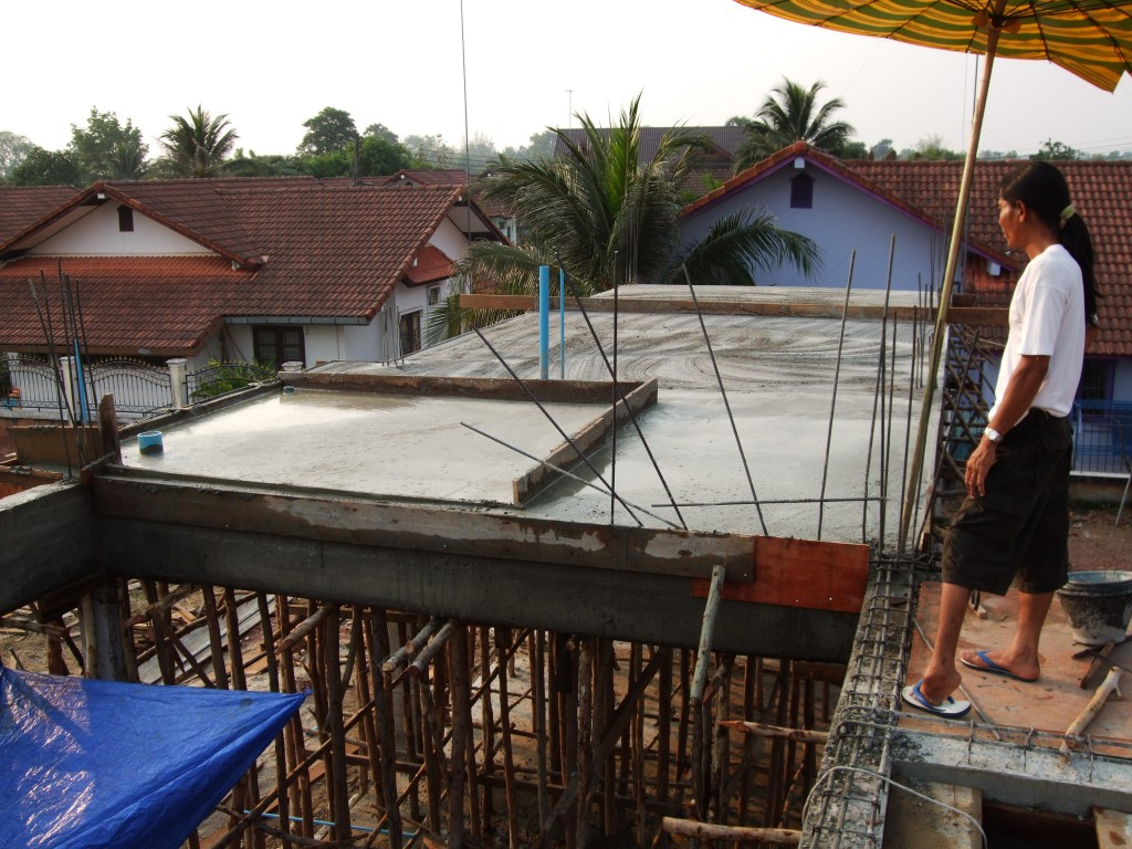 Second floor slab