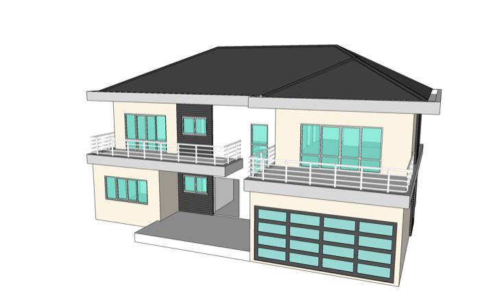 4 Bedroom Home Concept Design — NKD