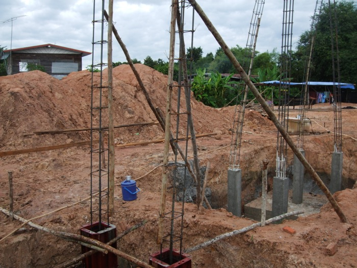 First Stage Columns Complete Grade Beam Preparations In