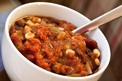 veggie chili + cornbread — Edible Perspective