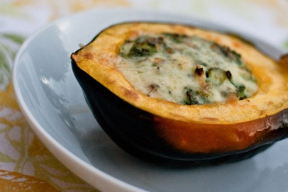 ... Acorn Squash [adapted from Roasted Corn Pudding in Acorn Squash