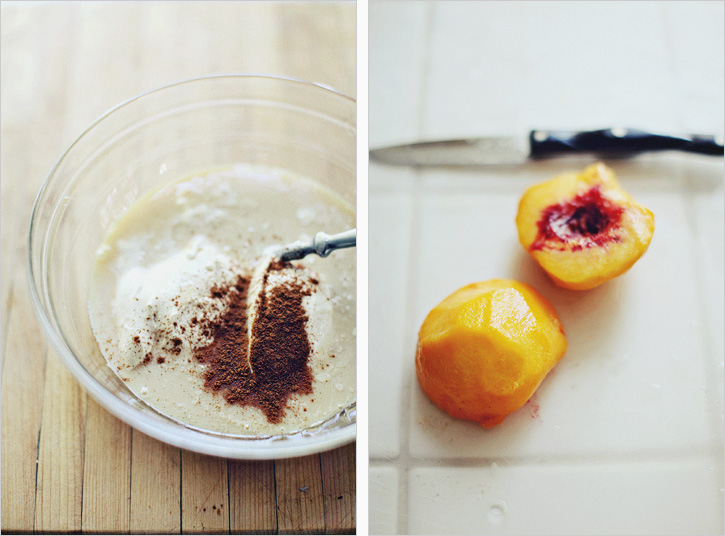 PEACH CREME WITH GINGERSNAP CRUST — Sprouted Kitchen