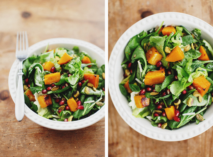 BUTTERNUT SALAD WITH CIDER DRESSING - SPROUTED KITCHEN - A Tastier ...
