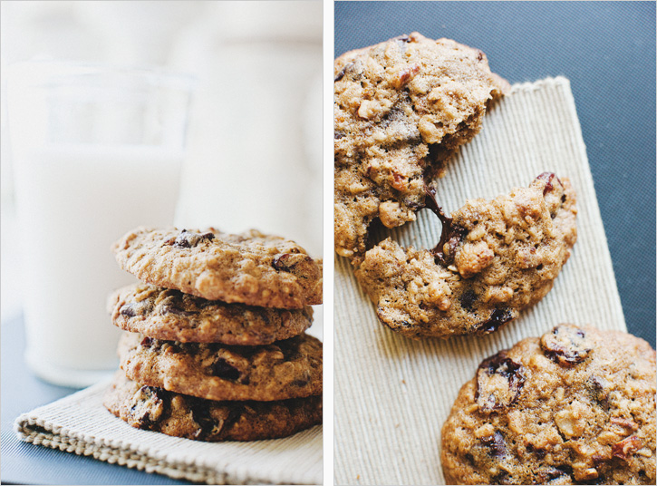 CHOCOLATE CHIP OATMEAL COOKIES WITH CHERRIES + PECANS — Sprouted ...