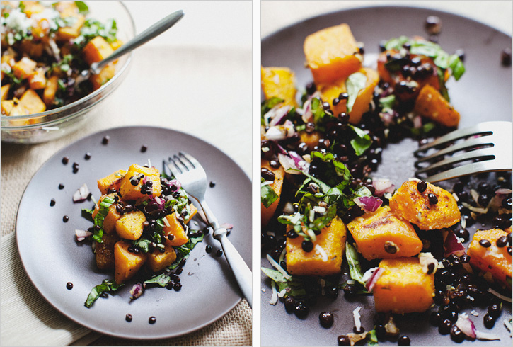SAUTEED BELUGA LENTILS + BUTTERNUT SQUASH - SPROUTED KITCHEN - A ...