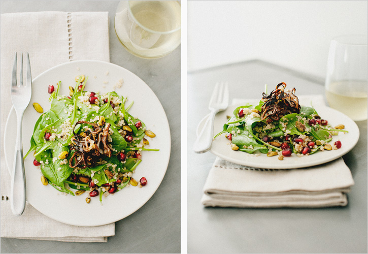 COCONUT QUINOA + SPINACH SALAD - SPROUTED KITCHEN - A Tastier Take on ...