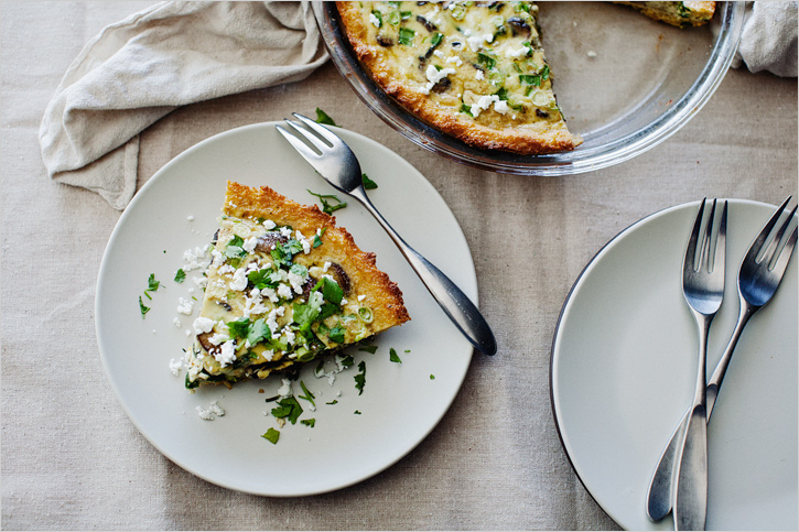 MUSHROOM + POBLANO TART IN CORNMEAL CRUST - SPROUTED KITCHEN - A ...