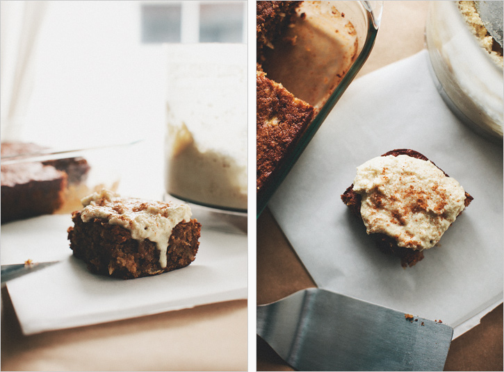 BANANA SNACKING CAKE WITH CASHEW COCONUT CREAM — Sprouted ...