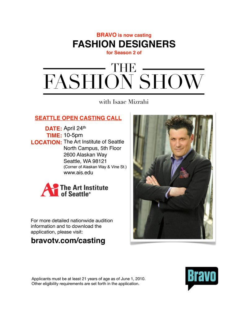 The Fashion Show Flyer Seattle