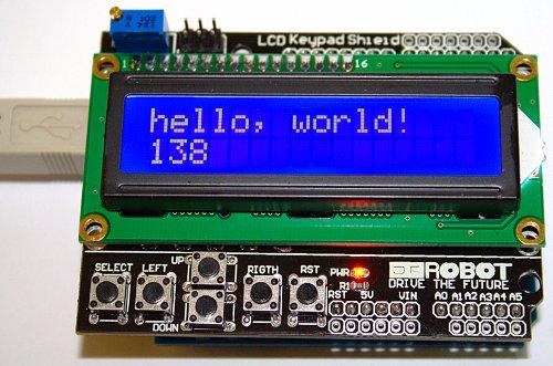 Arduino lcd shield hello world — hoaglun