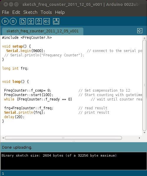 Arduino frequency counter — hoaglun