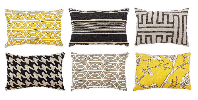 Giveaway Pillows By Dezign Marianne Simon Design Stunning Yellow Decorative Bed Pillows