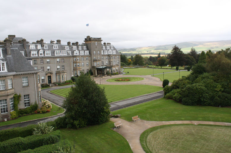 View From Our Room at the Gleneagles in Scotland