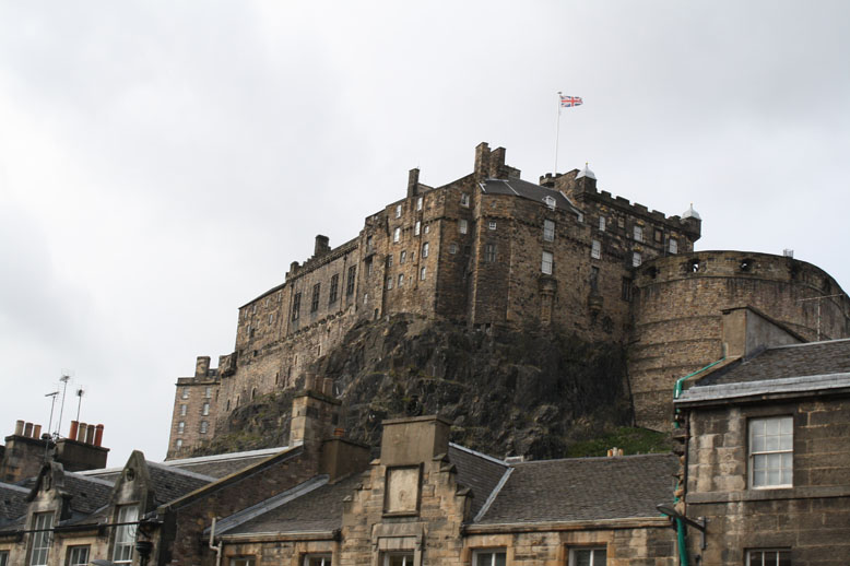 Pulling up to the Edinburgh Castle