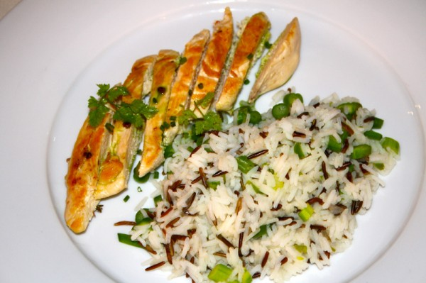 Grilled Chicken with Wild Rice Room Service