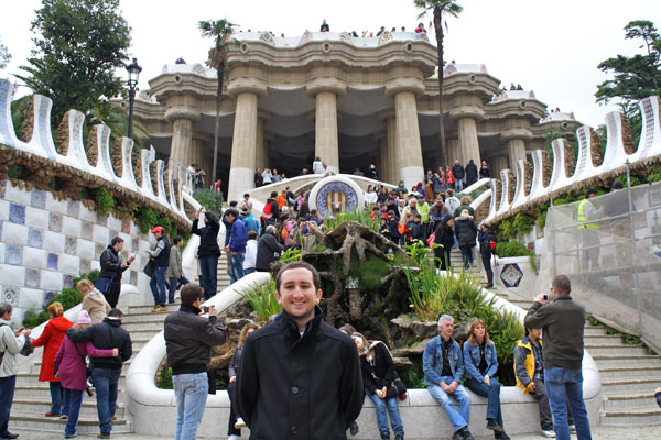 In Front of the Park Guell
