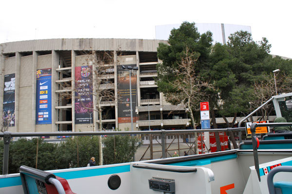 Passing by FC Barcelona Stadium