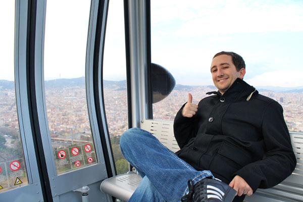 Riding the Gondola in Barcelona