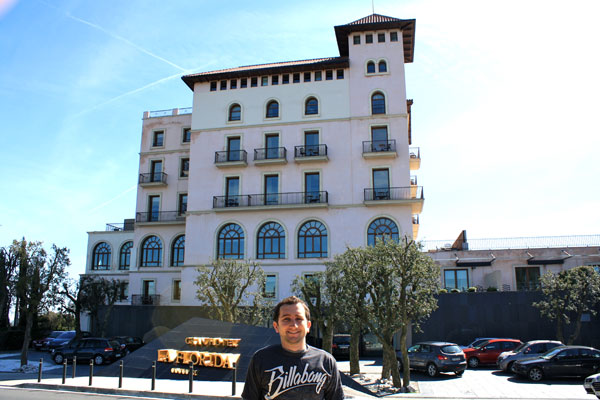 Standing In Front of the Gran Hotel La Florida