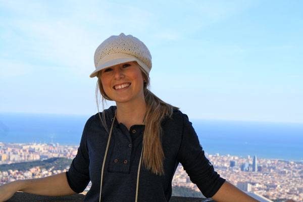 Jenn Standing On Top of Tibidabo
