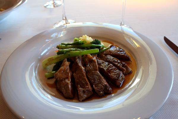 Veal at Lunch at Gran Hotel La Florida