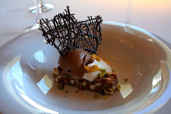 Greek Yogurt with Chocolate Ice Cream at Lunch at Gran Hotel La Florida