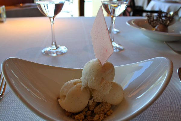 Plain Vanilla Ice Cream at Lunch at Gran Hotel La Florida