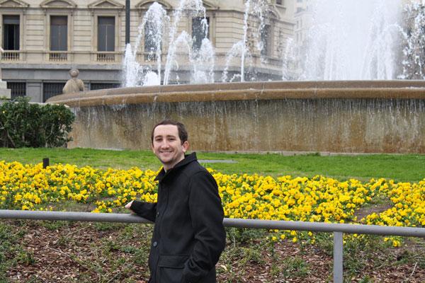 At a Fountain at La Rambla