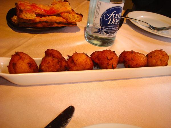 Cod Fritters @ The Attic La Rambla Barcelona Spain