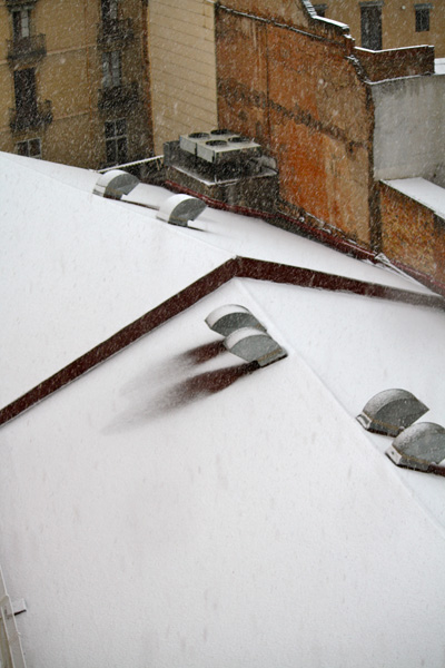 Snowy Rooftop Shot from Suite at Le Meridian Barcelona