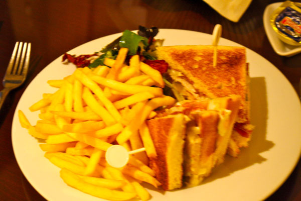 Club Sandwhich from Le Meridian Barcelona Room Service