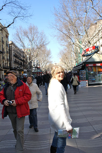 Jenn Navigating to Sagrada Familia