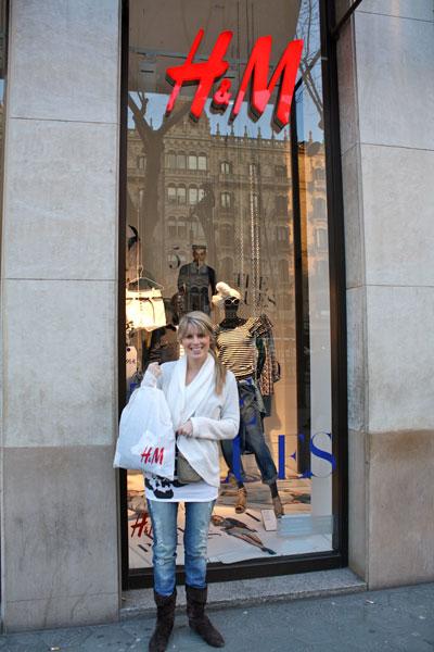 Jenn at H&M in Barcelona Spain