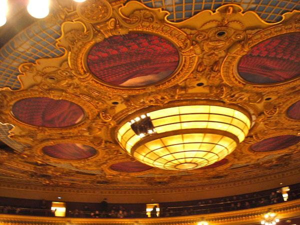 Gorgeous Ceiling at Gran Teatre Del Licue