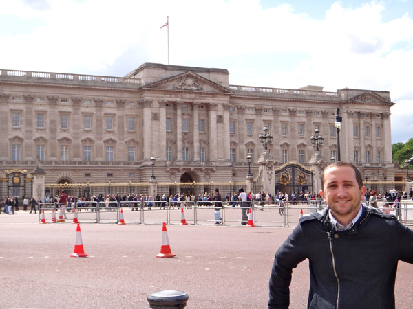 Standing in Front of Buckingham Palace