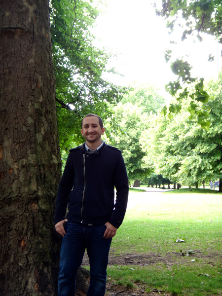Standing By a Tree in Green Park