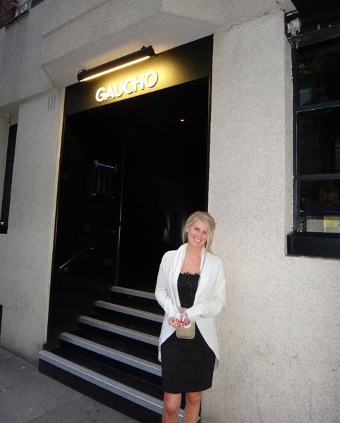 Jenn Standing In Front of Gaucho Sloane