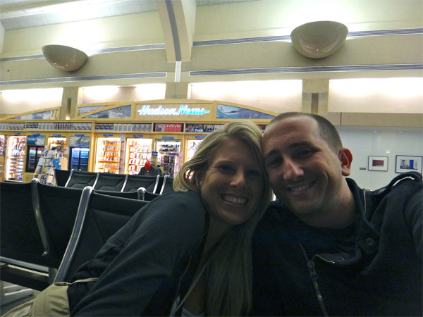 Jenn and I at the Orange County Airport