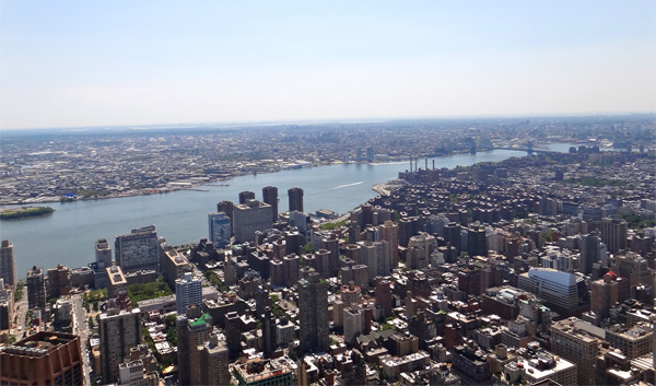 The Skyline from the Top of the Empire State Building