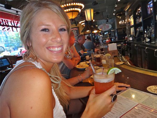 Jenn Enjoying Her Rum Punch