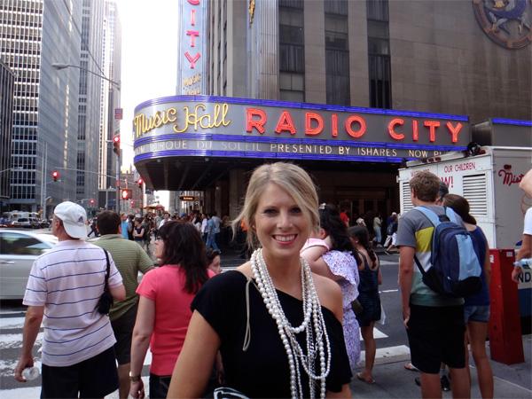 Jenn Looking Amazing Right Outside Radio City Music Hall