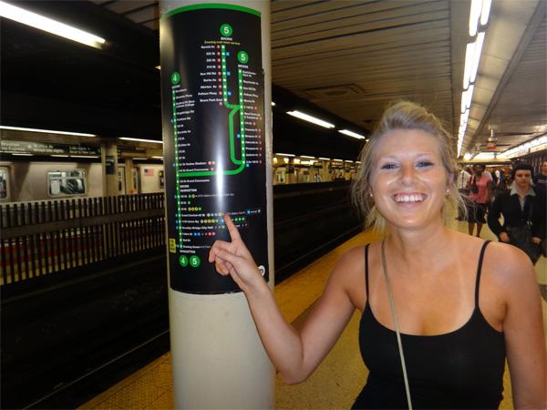 Jenn Navigating Through the Subways in New York City