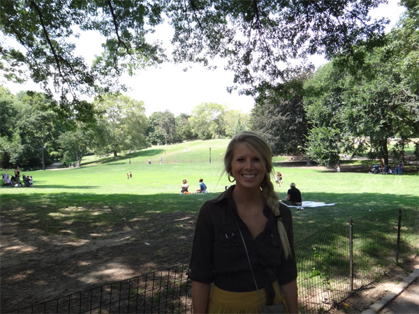 Jenn Walking Through Central Park