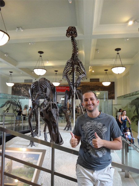 Standing in Front of an Awesome Dinasour