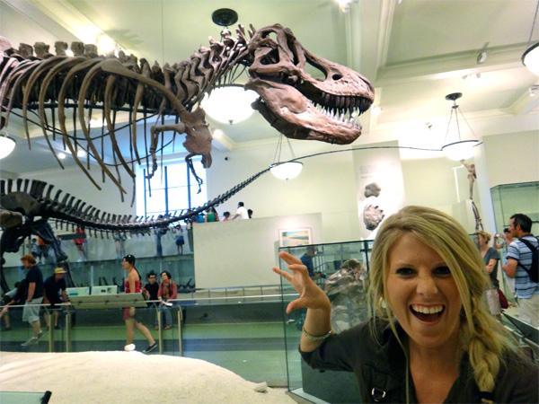 Jenn Showing Her Inner T-Rex
